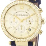 Michael-Kors-Damen-Armbanduhr-Chronograph-Quarz-Leder-MK2280-0