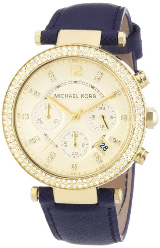michael kors damen armbanduhr chronograph quarz leder mk2280 uhrenlos. Black Bedroom Furniture Sets. Home Design Ideas